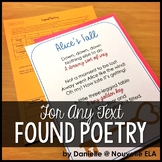 Found Poetry - Use with Fiction or Non Fiction
