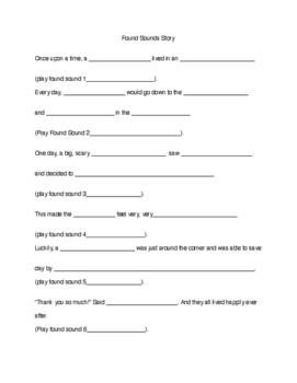 Found Sounds worksheet