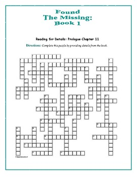 Found—The Missing: Book 1; 3 Reading-for-Detail Crosswords—Fun!