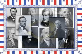 Found Treasures: 45 Presidents Clip-Art Rectangles 50 Pcs!