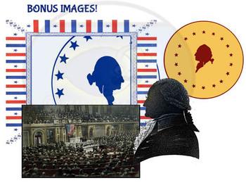 Found Treasures: 45 Presidents Oval Portraits Clip-Art Bundle-50 Pcs!
