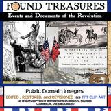 "Found Treasures ""American Revolution Events"" 50 Pc. Clip-Art Set-Public Domain!"