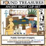 Found Treasures: Ancient Egypt Clip-Art-50 Pieces!Restored Public Domain Images.