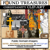 "Found Treasures ""Christianity""  50 Pc. Clip-Art Set-Restored Public Domain!"
