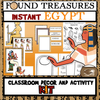 Found Treasures: Instant Egypt Classroom Decor and Activity Kit-30 Pages!