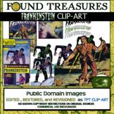 Found Treasures-Literary Legends: Frankenstein 16 pc. Clip-Art