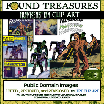 Found Treasures-Literary Legends: Frankenstein 16 pc. Clip-Art