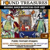 Found Treasures: Medieval  Clip-Art-50 Pieces! Restored Public Domain Pics