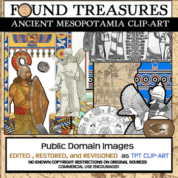 Found Treasures: Mesopotamia Clip-Art-50 Pcs.! Restored Pu