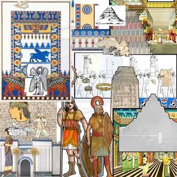 Found Treasures: Mesopotamia Clip-Art-50 Pcs.! Restored Public Domain Images.