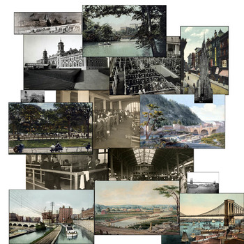 """Found Treasures """"New York""""- 50 Pieces Restored Public Domain Images"""