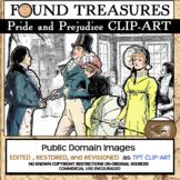 Found Treasures- Pride and Prejudice- Regency Restored Public Domain Clip-Art