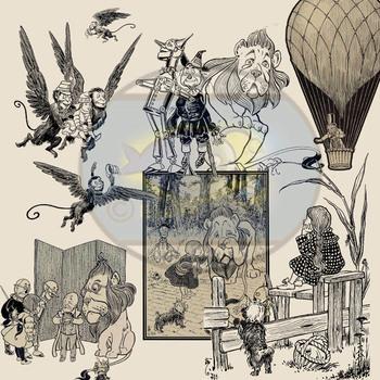 Found Treasures-Vintage Wizard of Oz Clip-Art- 13 Pieces