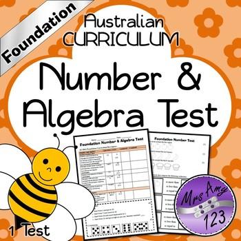 Foundation ACARA Number Maths Test