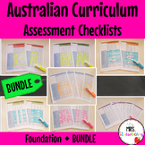 Foundation Australian Curriculum Assessment Checklists BUNDLE