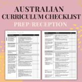 Foundation - Australian Curriculum Checklist