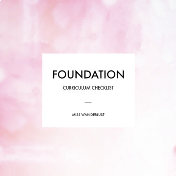Foundation - Australian Curriculum Checklist