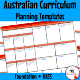 Foundation Australian Curriculum Planning Templates: HASS - EDITABLE