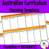 Foundation Australian Curriculum Planning Templates: Mathematics - EDITABLE