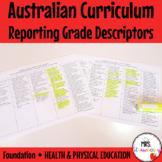 Foundation Australian Curriculum Reporting Grade Descripto