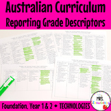 Foundation|1|2 Australian Curriculum Reporting Grade Descriptors - Technologies