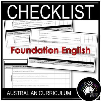 Foundation English | Australian Curriculum Checklist