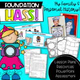 Foundation HASS 'My Personal & Family History'   Australian Curriculum  