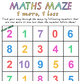 Foundation/Level 1 Maths Maze - One More, One Less & 2 More, Two Less from 0-10