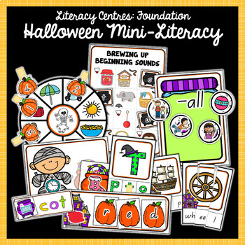 Foundation Math and Literacy Centres: Halloween-Themed BUNDLE
