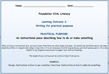 VCAL Foundation Literacy Learning Outcome 2