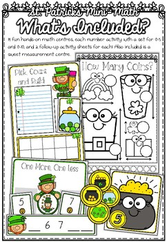 Foundation Math Centres: St Patrick's Mini-Maths