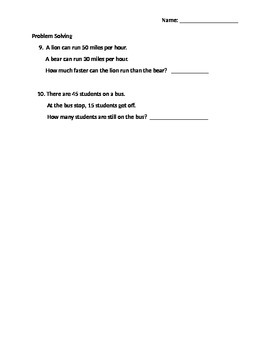 Foundation Math Chapter 3 Subtraction