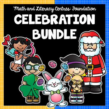 Foundation Math and Literacy Centres: CELEBRATION BUNDLE
