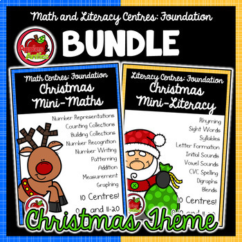 Foundation Math and Literacy Centres: Christmas-Themed BUNDLE
