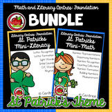 Foundation Math and Literacy Centres: St Patrick's-Themed BUNDLE