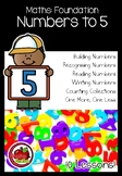 Foundation Maths: Unit 1: Numbers to 5