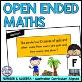 Open Ended Maths Questions Foundation | Australian Curriculum