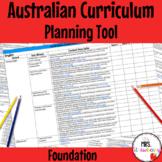Foundation Australian Curriculum Planning Tool