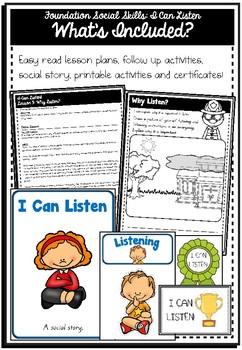 Foundation Social Skills: I Can Listen