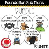Foundation Sub Plans BUNDLE
