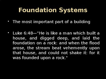 Foundation Systems (Footings and Foundations)