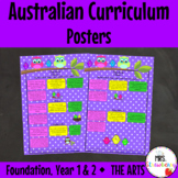 Foundation, Year 1 and Year 2 Australian Curriculum Posters – The Arts