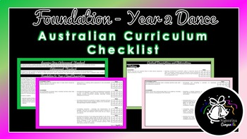 Foundation - Year 2 Dance | Australian Curriculum Checklist