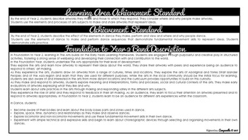 Foundation - Year 2 Dance (Black & White) | Australian Curriculum Checklist