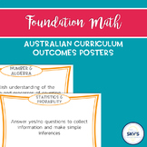 Foundation Year Mathematics Outcomes Posters - AUSTRALIAN