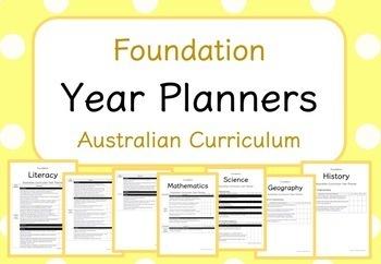 Foundation - Year Planners BUNDLE! (Australian Curriculum)