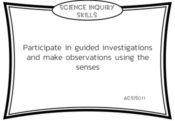 Foundation Year Science Outcomes Posters - AUSTRALIAN CURRICULUM