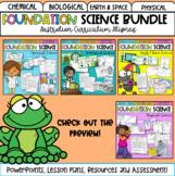 Foundation & Pre-Primary Science -Australian Curriculum Bundle Distance Learning