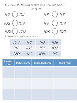 Foundation of Numbers 100-120