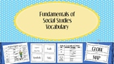 Foundation of Social Studies Vocabulary & Word Wall Posters!